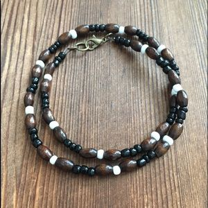 Men's Wood Beaded Necklace